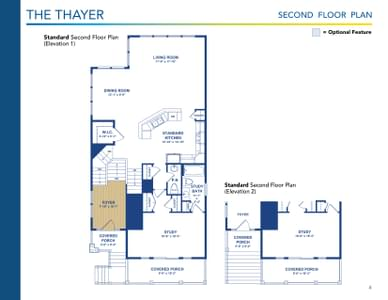 Thayer Elevation 2 Delaware Home for Sale. 4