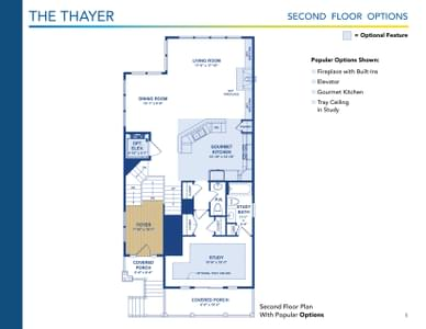 Thayer Elevation 2 Delaware Home for Sale. 5