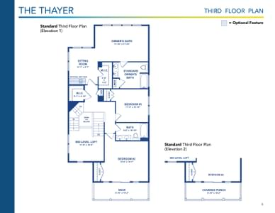 Thayer Elevation 2 Delaware Home for Sale. 6