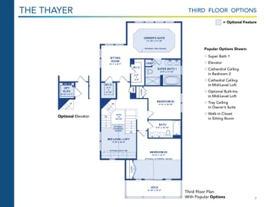 Thayer Elevation 2 Delaware Home for Sale. 7